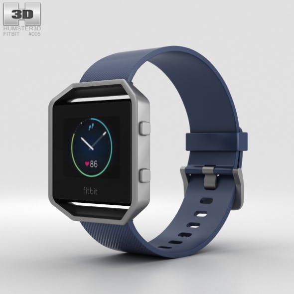 Fitbit Blaze Blue/Silver - 3DOcean Item for Sale