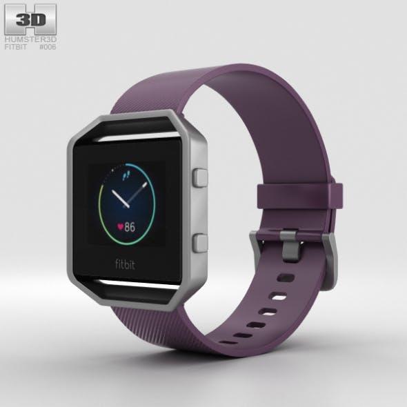 Fitbit Blaze Plum/Silver - 3DOcean Item for Sale