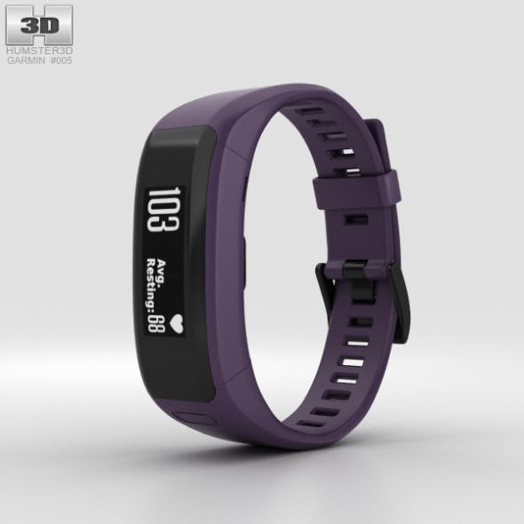 Garmin Vivosmart HR Imperial Purple - 3DOcean Item for Sale