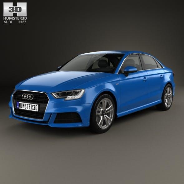 Audi A3 S-Line 2016 - 3DOcean Item for Sale