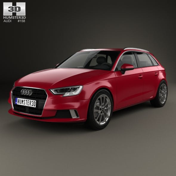 Audi A3 Sportback 2016 - 3DOcean Item for Sale