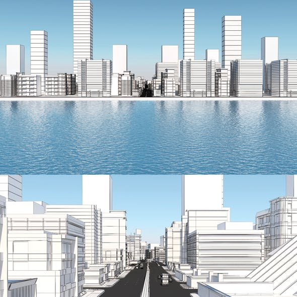 Low Poly Sea City