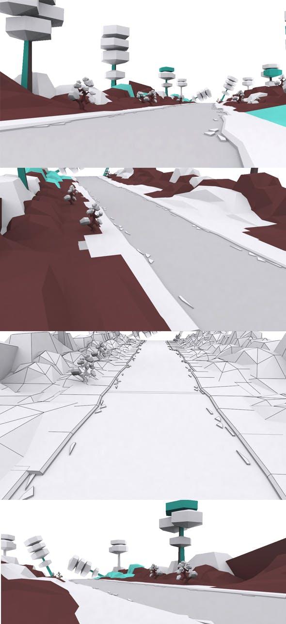 Cartoon Ice Way - 3DOcean Item for Sale