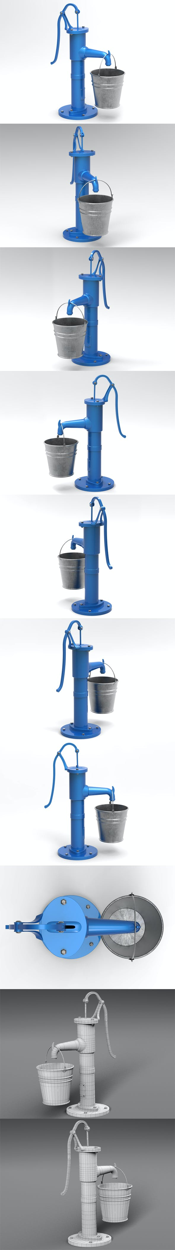 Water pump and bucket - 3DOcean Item for Sale