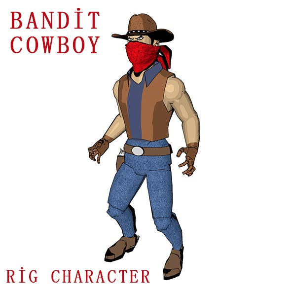 Cowboy Bandit - 3DOcean Item for Sale