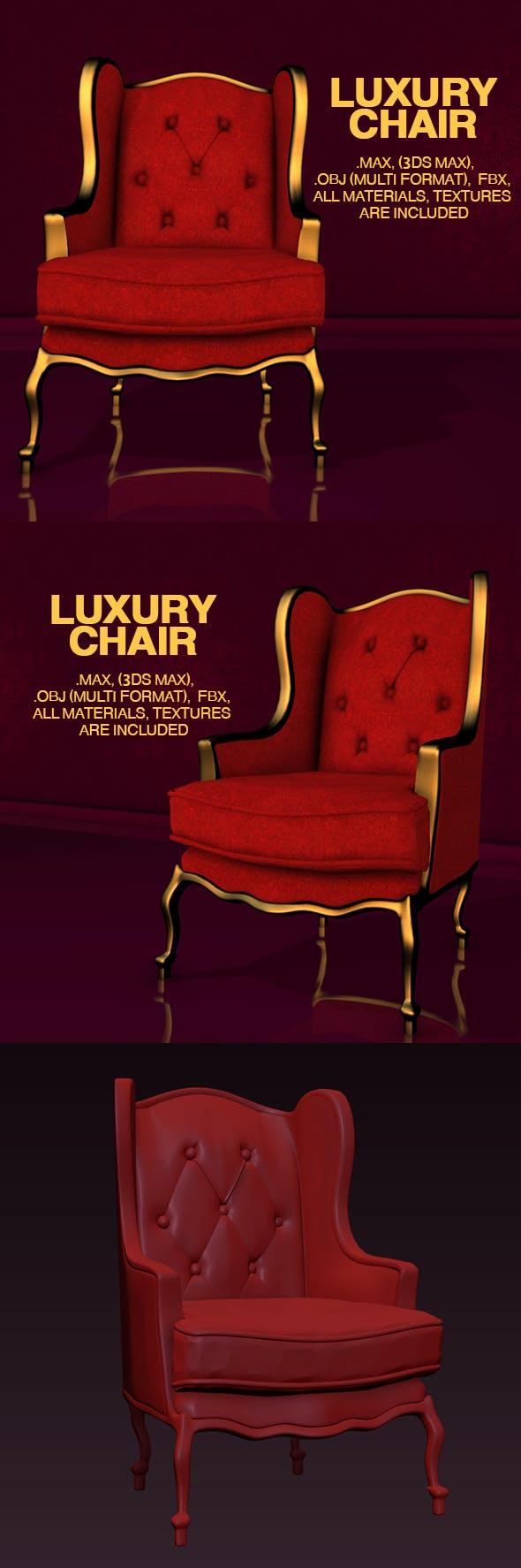 Luxury Chair - 3DOcean Item for Sale