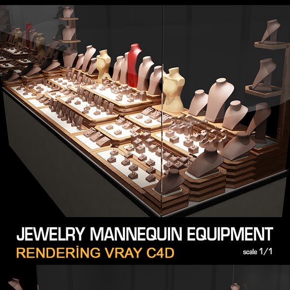Jewelry Showcase Mannequin Equipment