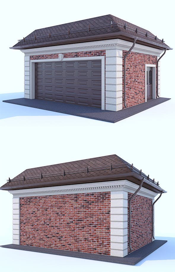 Garage for two cars - 3DOcean Item for Sale