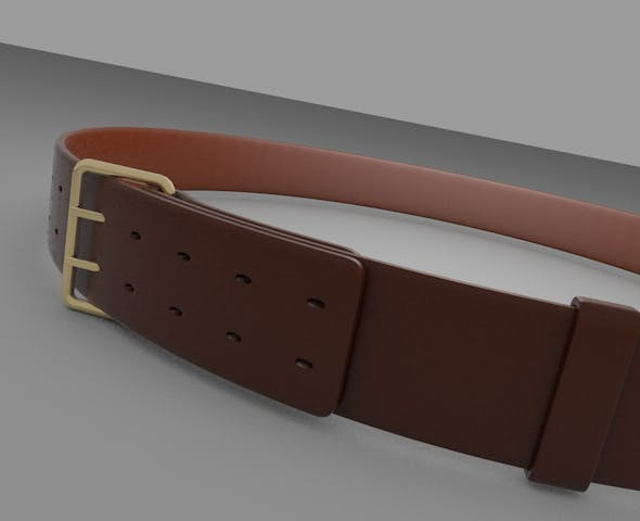 3D Leather Belt - 3DOcean Item for Sale