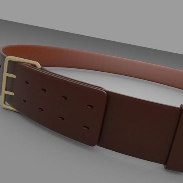 3D Leather Belt
