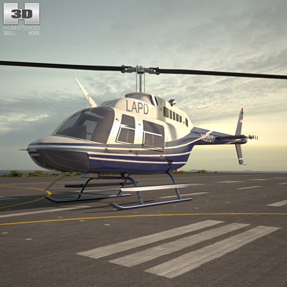 Bell 206 - 3DOcean Item for Sale