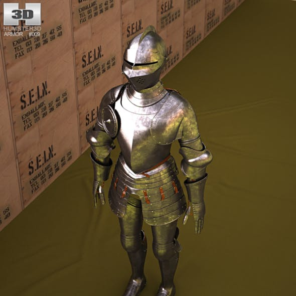 Plate armour - 3DOcean Item for Sale