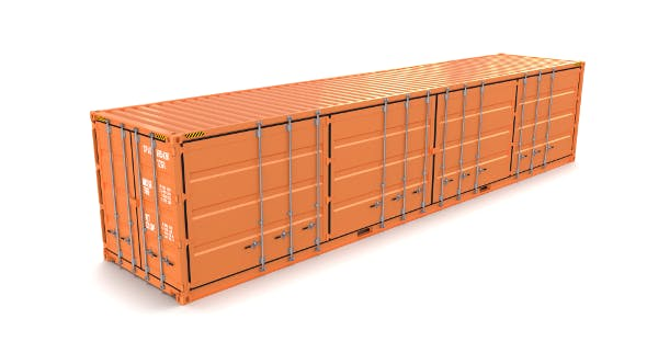 40ft Shipping Container Side Open - 3DOcean Item for Sale