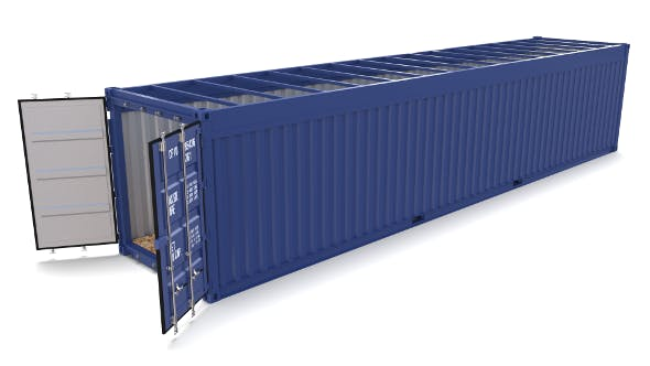 40ft Shipping Container Open Top no Cover - 3DOcean Item for Sale