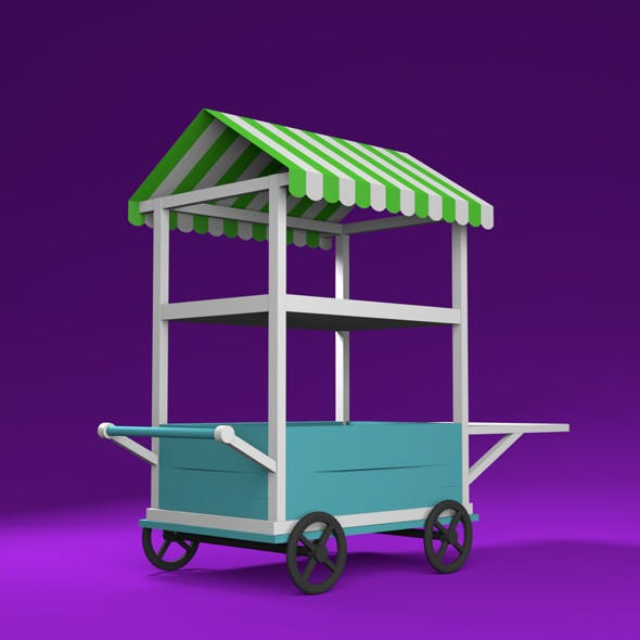 Lowpoly cart