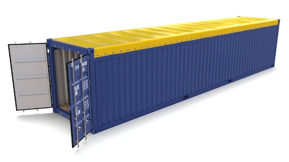 40ft Shipping Container Open Top 2 - 3DOcean Item for Sale