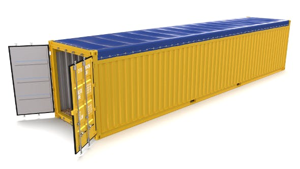 40ft Shipping Container Open Top - 3DOcean Item for Sale