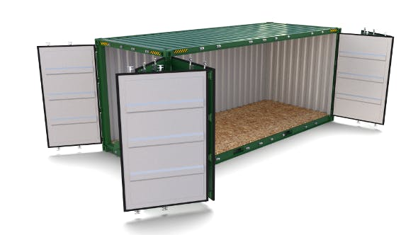 20ft Shipping Container Side Open - 3DOcean Item for Sale