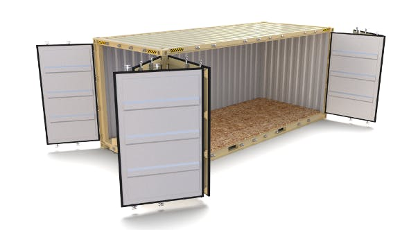 20ft Shipping Container Side Open 2 - 3DOcean Item for Sale