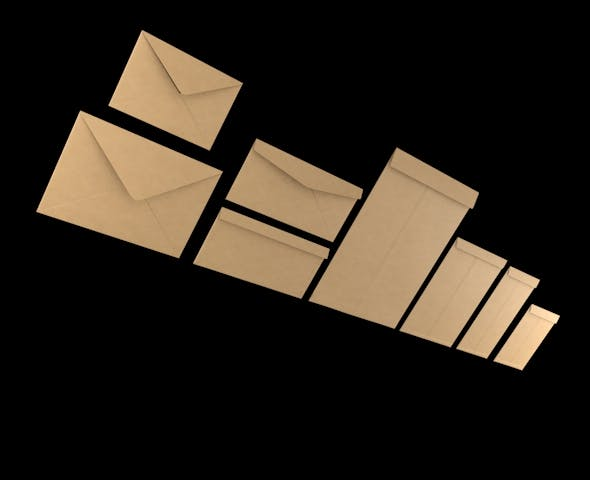 3D Envelopes (Different Type & Sizes) - 3DOcean Item for Sale