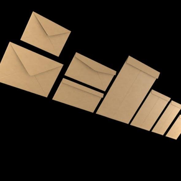 3D Envelopes (Different Type & Sizes)