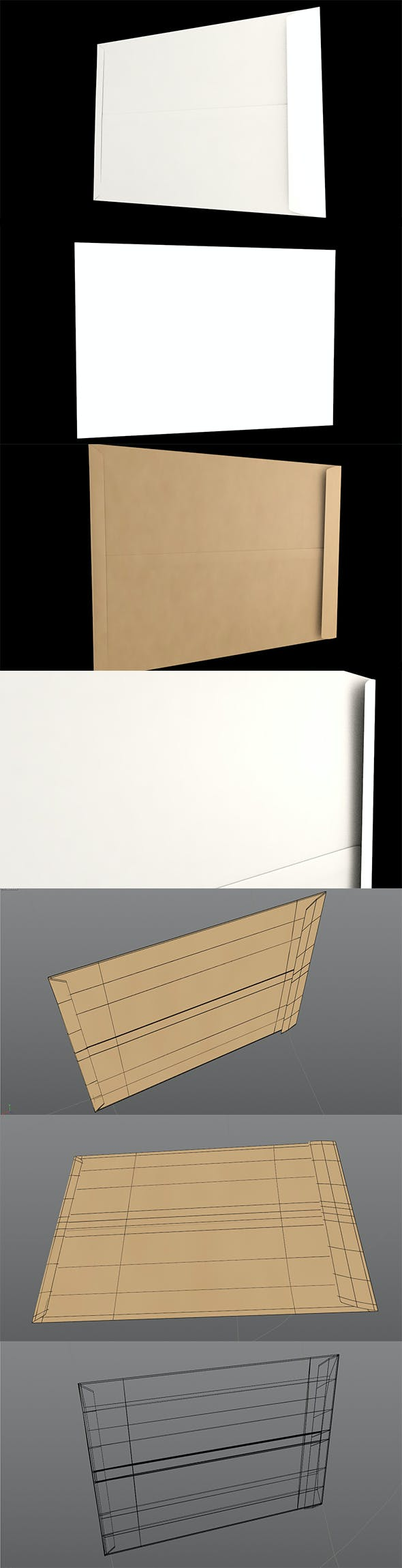 3D Envelope (Size C5 Pocket) - 3DOcean Item for Sale