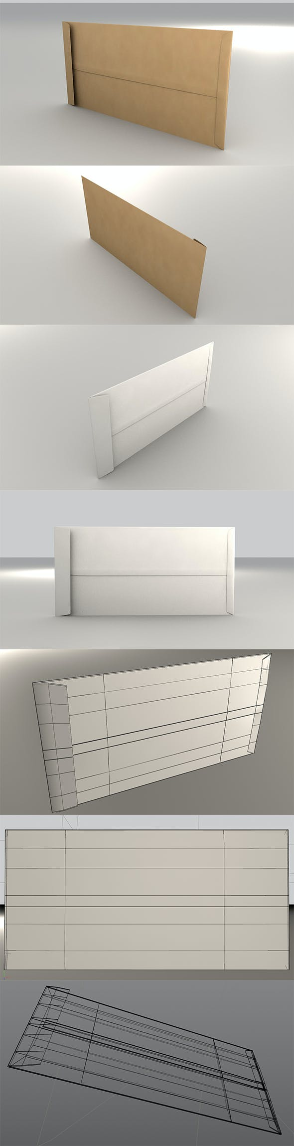 3D Envelope (Size DL Pocket) - 3DOcean Item for Sale