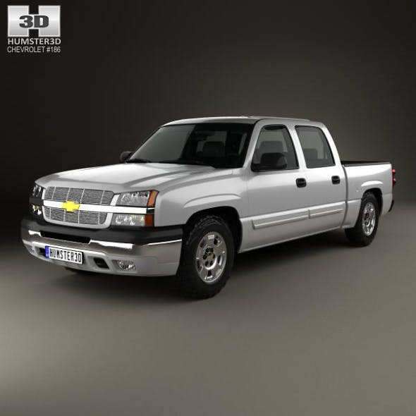 Chevrolet Silverado 1500 Crew Cab Short Bed with HQ interior 2002 - 3DOcean Item for Sale