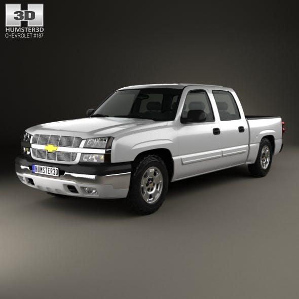 Chevrolet Silverado 1500 Crew Cab Short Bed 2002 - 3DOcean Item for Sale