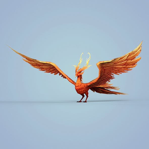 Fire Bird Phoenix - 3DOcean Item for Sale