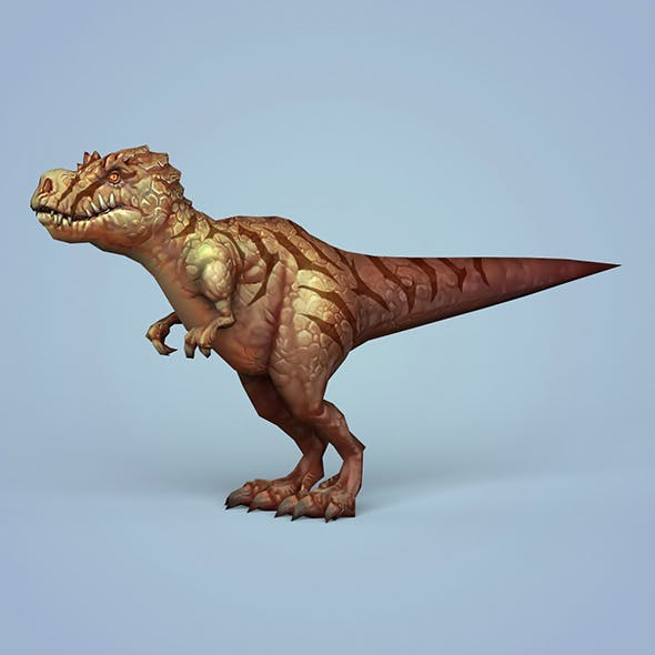 Fantasy Cartoon Dinosaur Trex