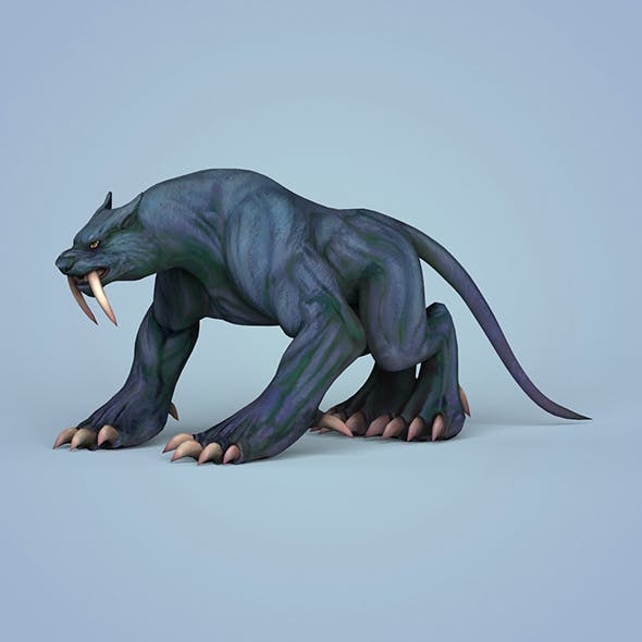 Fantasy Monster Leopard - 3DOcean Item for Sale