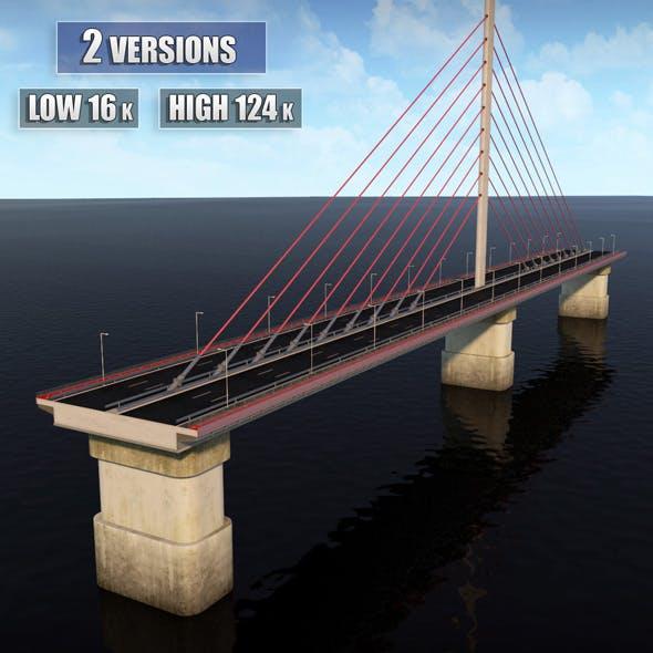 Single Suspended Water Road Bridge
