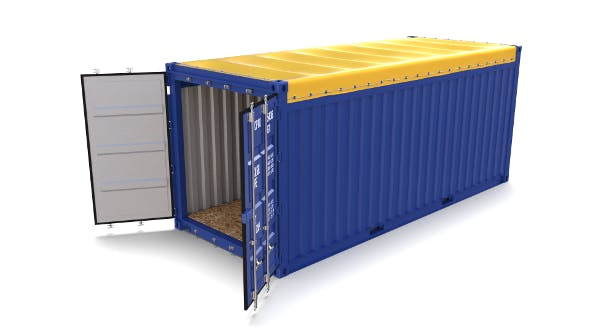 20ft Shipping Container Open Top - 3DOcean Item for Sale