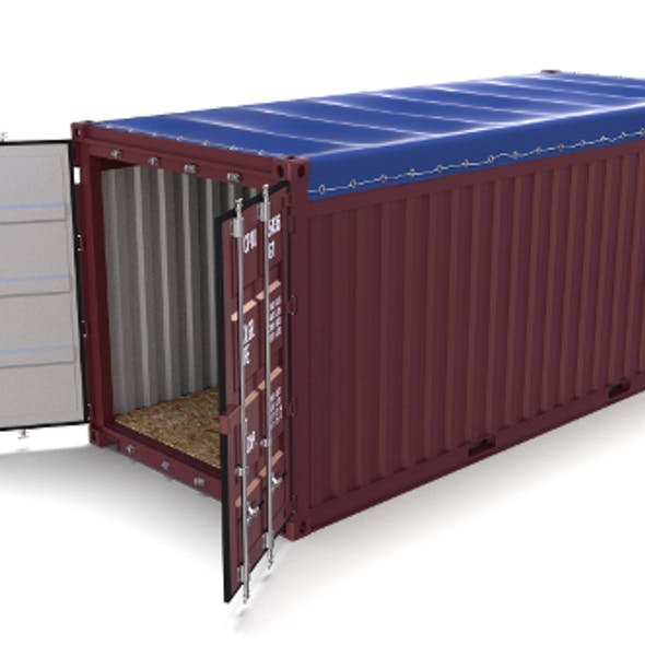 20ft Shipping Container Open Top no Cover 2