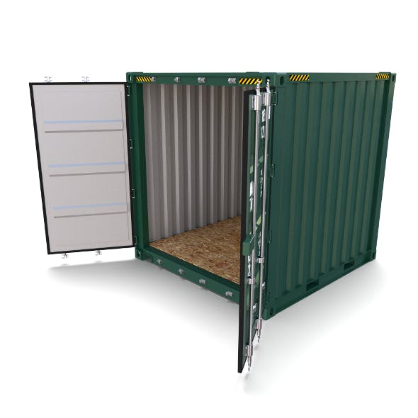 8ft Shipping Container - 3DOcean Item for Sale