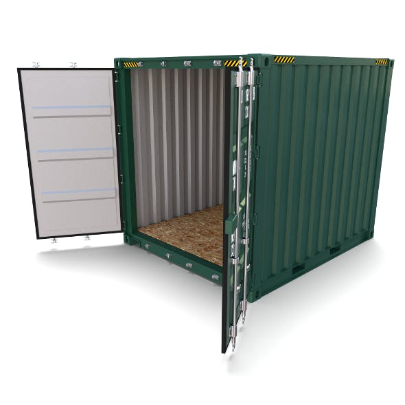 10ft Shipping Container - 3DOcean Item for Sale