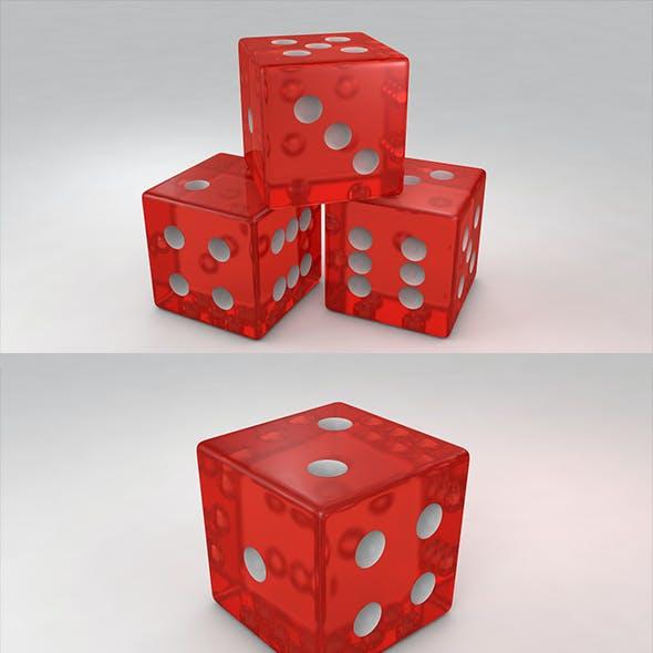3D Red Dies