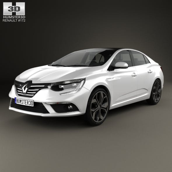 Renault Megane sedan 2016 - 3DOcean Item for Sale