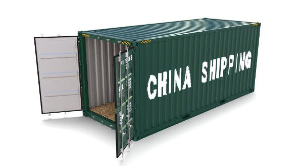20ft Shipping Container China Shipping - 3DOcean Item for Sale