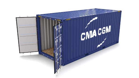20ft Shipping Container CMA CGM - 3DOcean Item for Sale