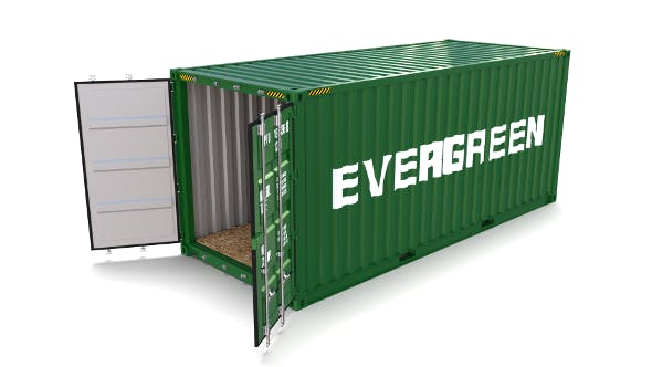 20ft Shipping Container Evergreen - 3DOcean Item for Sale