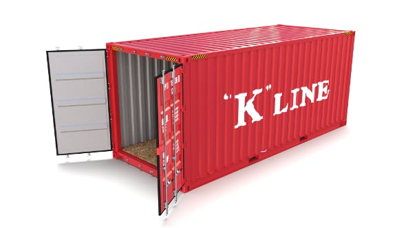20ft Shipping Container K Line - 3DOcean Item for Sale