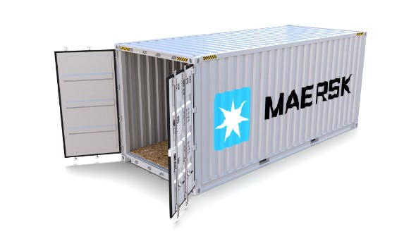20ft Shipping Container Maersk - 3DOcean Item for Sale