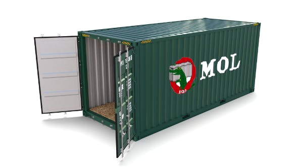 20ft Shipping Container MOL - 3DOcean Item for Sale