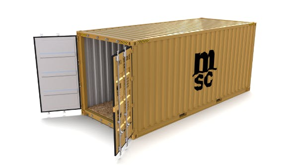 20ft Shipping Container MSC - 3DOcean Item for Sale