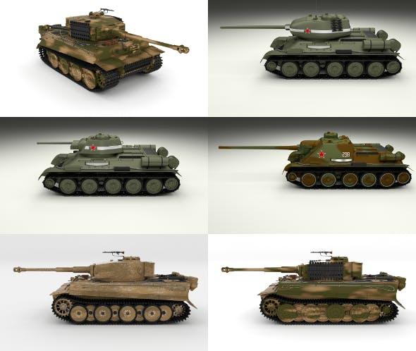 Eastern Front Armor Pack v2 - 3DOcean Item for Sale