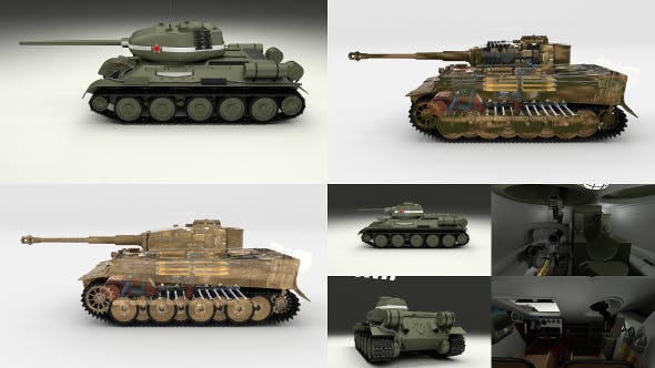 Eastern Front Armor Pack with Interior v1 - 3DOcean Item for Sale