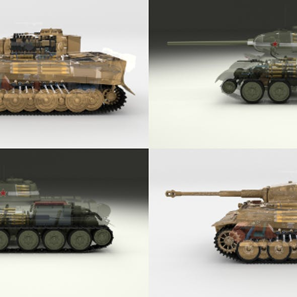 Eastern Front Armor Pack with Interior and Engine Bay v1