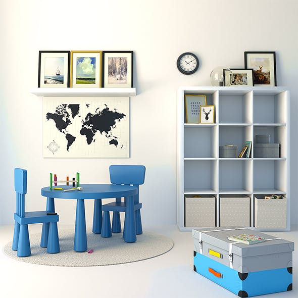 Ikea children's room - 3DOcean Item for Sale
